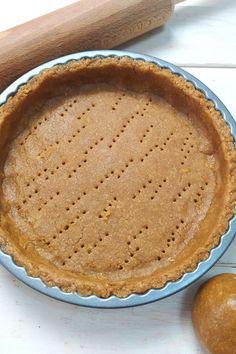 Pasta frolla integrale senza burro - cooking in Love Biscotti, Hamburger, Food And Drink, Pie, Vegan, Cooking, Desserts, Semi, Latte