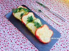 Pimientos rellenos de tortilla de patatas paso a paso