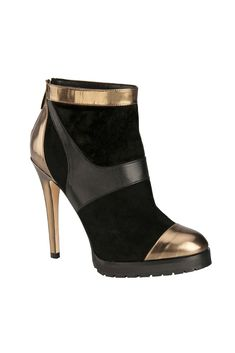 Style.com Accessories Index : Fall 2014 : Jimmy Choo gold and black boot