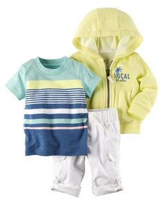 Baby Boy 3-Piece Neon Little Jacket Set from Carters.com. Shop clothing & accessories from a trusted name in kids, toddlers, and baby clothes.