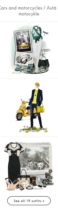 """""""Cars and motorcycles / Autá a motocykle"""" by lilikatka ❤ liked on Polyvore featuring TAXI, Anja, Dolce&Gabbana, Alexis Bittar, Romeo Gigli, Steve Madden, women's clothing, women, female and woman"""
