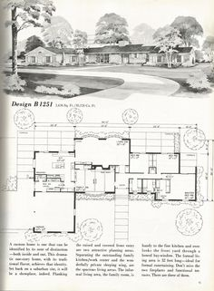 Vintage House Plans, 1960s Homes, Mid Century Homes | House Plans |  Pinterest | Vintage House Plans, 1960s And Mid Century