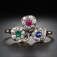 Antique Three Leaf Clover Ring