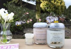 The perfect combination - Pure Bliss! Heart & Home  fragranced candles  votives  wax melts wax warmers
