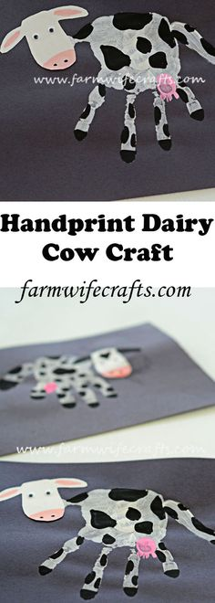 Teach your kids about dairy cows with this handprint craft.