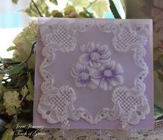 parchment craft, pergamano card, parchment anemon, paper crafts