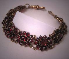 Antique Garnet Bracelet