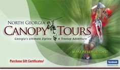 Georgia Zip Line Adventure Pricing: North Georgia Canopy Tour.  $69 - $89.  In Lula, GA.
