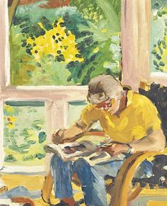 Kitaj in his Studio, 1989 - Sandra Fisher (1947–1994)