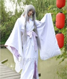 Natsume's Book of Friends Madara White Kimono Cosplay Costume