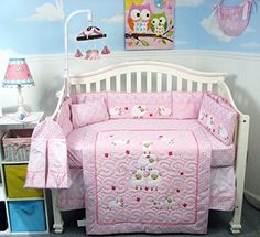 SOHO Wolly Sheeps Crib Nursery Bedding Set 14 pcs -- You can get additional details at the image link. #NurseryBedding