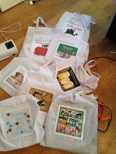 Sacs à album chez Béatrix - école petite section - Basteln dekoration Kindergarten Activities, Toddler Activities, Preschool, Reading At Home, Kids Reading, Splat Le Chat, Art History Memes, French Songs, History Teachers