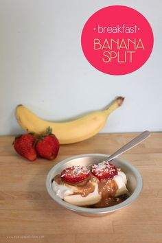 Healthy Breakfast Banana Split for Kids| Mama Papa Bubba