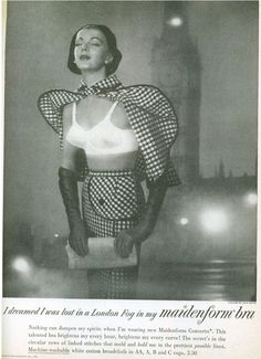 "1950s. The classic ""I dreamed I was..."" Maidenform campaign ran for more than a decade into the 1960s. This is the most bizarre ad from the series."