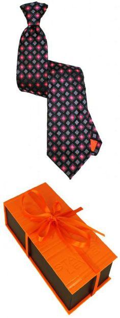 Stanley Lewis Men's Network Tie Pink & Black The Tie: 100% woven Silk, Handmade in Italy. Premium quality woollen interlining. Tie blade measures 3.6 , Tie length is 56.8.  #Stanley_Lewis #Apparel