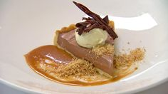 Chocolate Mousse Tart with Salted Caramel