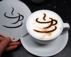 Coffee Stencil Design 8 | BARISTA latte art | Coffee cup logo | pinned by http://www.cupkes.com/