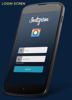 Instgram Android App Redesign by Hesham Mohamed, via Behance