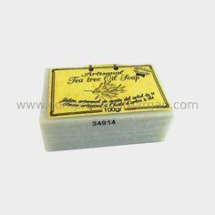 Jabón de aceite de árbol de té. Tratamiento acné y hongos