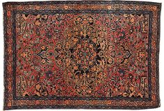 Persian Sarouk Ferahan, 4.... again. $$ but the colors are so exquisite.