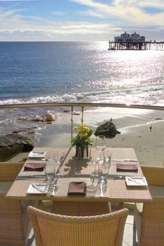 Be sure to make reservations for a table on Carbon Beach Club's terrace well in advance. #Malibu