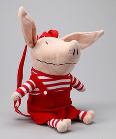 Take a look at this Olivia Plush Backpack by Olivia the Pig Collection on #zulily today!