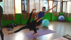 Partner Yoga in Rishikesh, India Yoga Teacher Training Course