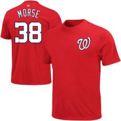 MLB Majestic Michael Morse Washington Nationals Player T-Shirt - Red Majestic. $26.95