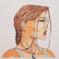 Comic Art - Lara Croft - Tomb Raider Pencil Art, Pencil Drawings, Comic Art, Comic Books, Lara Croft Tomb, Marker Art, Drawing Sketches, Colored Pencils, Disney Characters