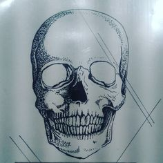 Other style, this is my pointillism skull sketch.