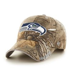 fd3130d66 Seattle Seahawks 47 Brand Realtree Camo Frost MVP Adjustable Hat Cap
