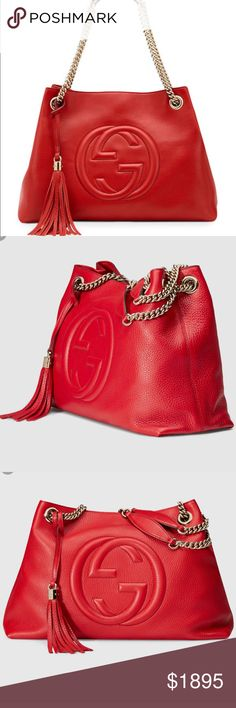 Gucci Soho Red Gucci Soho bag, in pristine be condition! Eye catching bag, really adds a pop to any outfit. Just got in a wonderful trade  not sure if I'll trade it yet but wanted to post and see offers Gucci Bags