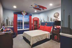 Design the Superman Bedroom 3 Boy Decor, Boys Room Decor, Boy Room, Superman Room, Superhero Room, Bedroom Themes, Kids Bedroom, Bedroom Decor, Bedroom Ideas