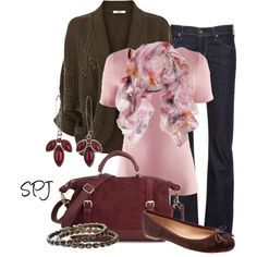 A fashion look from January 2013 featuring short-sleeve cardigan, pink top and Citizens of Humanity. Browse and shop related looks. Classy Outfits, Outfits For Teens, Cute Outfits, Classy Clothes, Fashion Outfits, Womens Fashion, Couture, Dress To Impress, Casual Wear