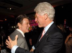 President Clinton & David Bowie from Stars Meet the President