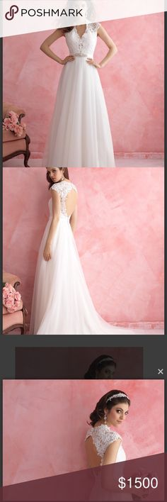 Allure bridal wedding dress, size 12 never worn Size 12, never worn, brand new, never tried on, never altered, I won't take anything less then 1500 dollars as you see I paid 2000 for it in the bridal store and it has never been worn. Serious buyers owner Allure Bridals Dresses Wedding