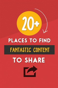 Hi to all 20+ Places To Find Superb #Content To #Share On #SocialMedia