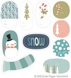7 printable christmas cards to adorn your gifts  #xmas #xmas2014 #printables #diy #snow #greetingcards