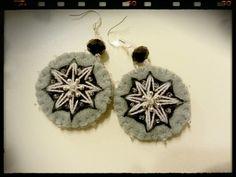 Felt grey earrings self made