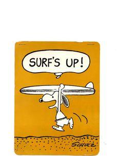 Snoopy ready to hang ten?