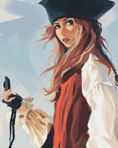 Pirate Art, Pirate Life, Character Aesthetic, Character Art, Character Design, Sparrow Art, Jack Sparrow Drawing, Elizabeth Swann, Sea Of Thieves