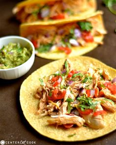 Slow Cooker Buffalo Ranch Chicken Tacos are so easy to make with only a few ingredients! The creamy, spicy, and tangy flavor is sure to be a huge hit for any taco lover! Chicken Ranch Tacos, Buffalo Ranch Chicken, Slow Cooker Recipes, Crockpot Recipes, Soup Recipes, Recipe Using Chicken, Mexican Dishes, Easy Dinner Recipes, Crock Pot