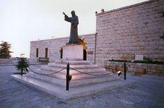 Saint Charbel's Statue outside the Saint Maroun's Monastery  Annaya, Lebanon.