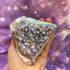 Large Pastel Aura Amethyst  has been polished on the back to be self standing on every side! this is a thick, heavy piece   3.5'' long /wide