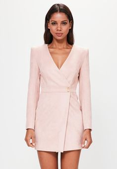 Missguided - Peace Love Nude Long Sleeve Faux Suede Wrap Dress Source by Dresses Short Dresses, Dresses For Work, Dresses With Sleeves, Wrap Dresses, Long Sleeve Dresses, Dress Outfits, Fashion Dresses, Tuxedo Dress, Love Clothing