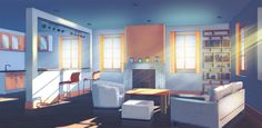 backgrounds background novel visual anime apartment scenery naruto google episode living apartments manga novels fantasy bedrooms novelist ars sunrise cenario