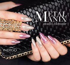 Metal Manix Multi Chrome #nails #nail #indigo #chrome #mix #multi #mani #wow #omg #spring #metal #mirror