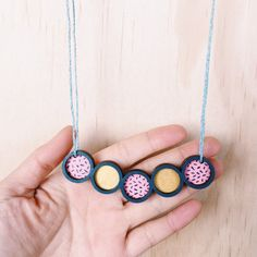 Pendulum Necklace . Wooden Necklace by Whimsy Milieu
