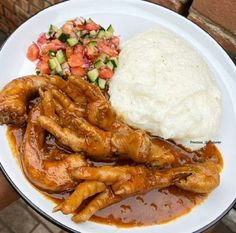 """SouthAfrican Foods on Instagram: """"Chicken Feets and Necks served with Pap and Salsa 😩😩 📸: @precious_thecaterer"""" South African Recipes, Food Cravings, Salsa, Cooking Recipes, Foods, Chicken, Meat, Instagram, Food Food"""