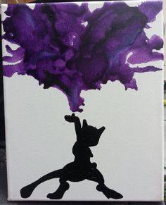 Mewtwo Melted Crayon Art by drunkpantlessbanana.deviantart.com on @deviantART